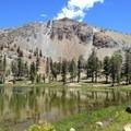 Mount Eddy east of Upper Deadfall Lake.- Deadfall Lakes + Mount Eddy