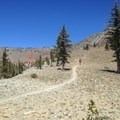 The initial ascent of Mount Eddy above the lakes. - Deadfall Lakes + Mount Eddy