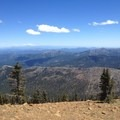 The view southeast toward Mount Lassen and Castle Crags.- Deadfall Lakes + Mount Eddy