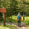 Trailhead to Ptarmigan Lake.- Ptarmigan Lake Trail