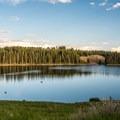 Beautiful Ward Lake.- Ward Lake Campground
