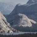 Granite domes tower above Tenaya Lake.- Yosemite National Park