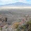 Tenacious desert plants frame Pilot Peak.- Rishel Peak