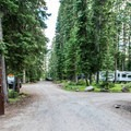 Campground entrance.- Ward Lake Campground