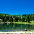 Glacier Springs is tiny, but the fishing is good.- Mesa Lakes Recreation Area