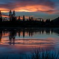 Sunset on Jumbo Lake.- Mesa Lakes Recreation Area