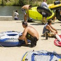 Free air pumps are available for floaters at Barber Park.- Boise River Float