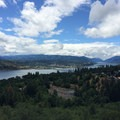 View south to White Salmon, Hood River, and Mount Hood.- Jewett Creek Watershed