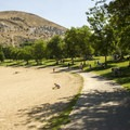 The Boise River Greenbelt winds through the park.- Sandy Point Beach