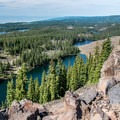 Butts Lake, Rockland Lake, and Forest Lake.- Crags Crest Trail