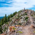 The high point of Crags Crest is at 11,140 feet.- Crags Crest Trail