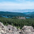 Looking back down to Eggleston Lake and Baron Lake.- Crags Crest Trail