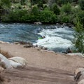 The Lido Wave near the downstream end of the park presents advanced challenges.- Buena Vista Whitewater Park