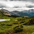 The wet spring of 2015 made for very full ponds.- Ptarmigan Lake Trail