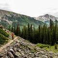 Beautiful hiking in the Collegiate Range.- Ptarmigan Lake Trail