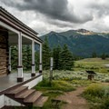 The Dexter Cabin was built in 1895 when it housed the resort owner's family.- Interlaken Trail
