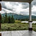 View from the Dexter Cabin.- Interlaken Trail
