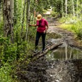 The last part of the trail was very wet in early July of 2015.- Interlaken Trail