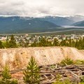 Huge tailings piles are everywhere in the mining district.- Mineral Belt Trail