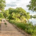 The Pelican Pond nature trail.- St. Vrain State Park Campground