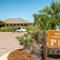 Coin showers and flush restrooms.- St. Vrain State Park Campground