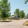 Park roads are typically nice and wide.- St. Vrain State Park Campground