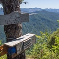 The trail is maintained by the Mazamas with a ledger at the summit where people can enter notes from their hike.- Elk Mountain Loop via Elk Creek Trail