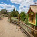 Free library along the path.- Steamboat Ditch Trail