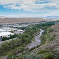 Overlooking the Truckee River as it flows toward downtown Reno.- Steamboat Ditch Trail