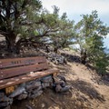 Max's Lookout: a bench and shrine to a dog named Max.- Hidden Valley Summit Trail