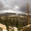 Storm approaching Matthes Crest, south of Tuolumne Meadows.- John Muir Trail Section 1