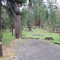 Typical site at Ochoco Divide Campground.- Ochoco Divide Campground