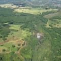 Wailua Falls viewed from a plane.- Wailua Falls