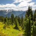 View of the North Cascades from the Thornton Lakes Trail.- Thornton Lakes Trail + Trappers Peak