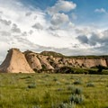 Raptors nest near these cliffs in the spring, making the area off limits.- Pawnee Buttes Trail