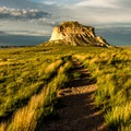 Sunset is a dramatic time to visit the buttes.- Pawnee Buttes Trail