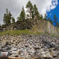 Enjoying Devils Postpile before resupplying at Red's Meadow.- John Muir Trail Section 1