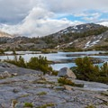 Red Top Mountain from Thousand Island Lake.- John Muir Trail Section 1