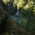 Cascade at the bottom of Gorge Creek Canyon.- Gorge Overlook