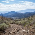 Views of Virginia City become more expansive as you gain elevation.- Ophir Peak / Mount Davidson