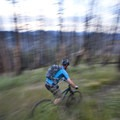 A mountain biker cruises through fire scars from the 2007 Castle Rock burn on single track near Sun Valley.- South Fork of Warm Springs to Red Warrior
