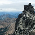 Long John Tower on Mount Stuart's West Ridge.- Mount Stuart: West Ridge