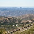 View from the south grade road.- Palomar Mountain State Park