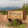 The high point of the trail is at 10,606 feet.- Mineral Belt Trail