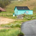 This distinctive building is next to the parking and the trail start/end point.- Mineral Belt Trail