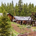 Abandoned mine structures along the trail.- Mineral Belt Trail