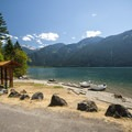 Shannon Creek Campground day use area, boat ramp, and beach.- Baker Lake, Shannon Creek Campground