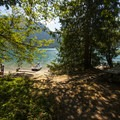 Shannon Creek Campground day use area and beach.- Baker Lake, Shannon Creek Campground