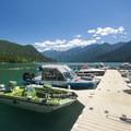 Marina at Swift Creek Campground.- Baker Lake, Swift Creek Campground