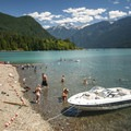 Swift Creek Campground beach and swimming area.- Baker Lake, Swift Creek Campground